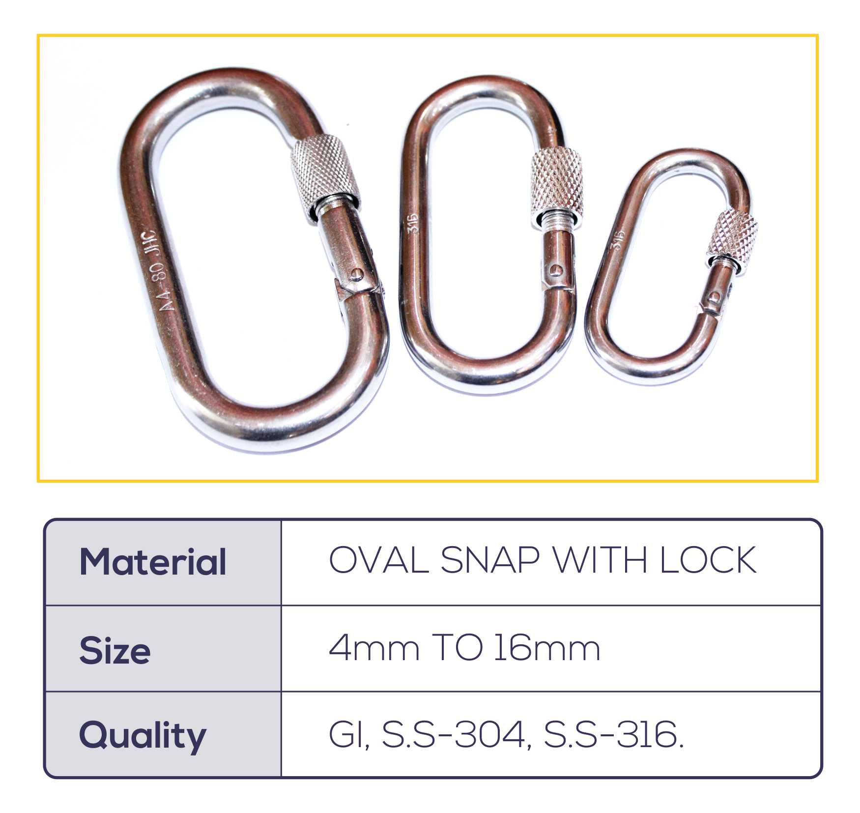 OVAL SNAP HOOK WITH LOCK