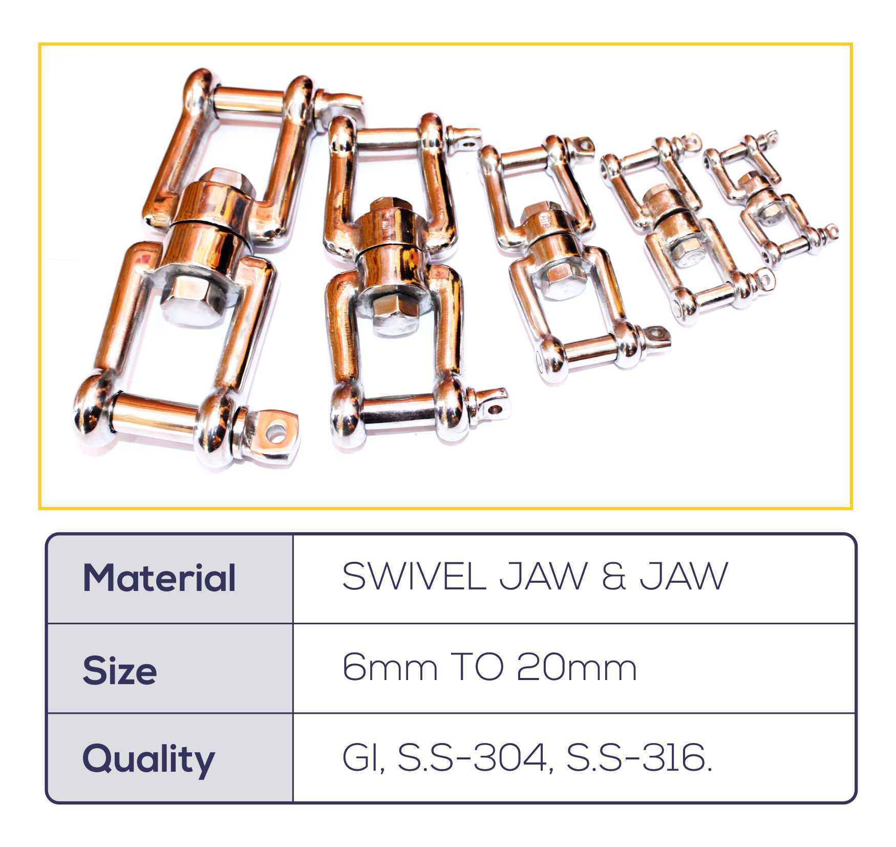 SWIVEL JAW & JAW