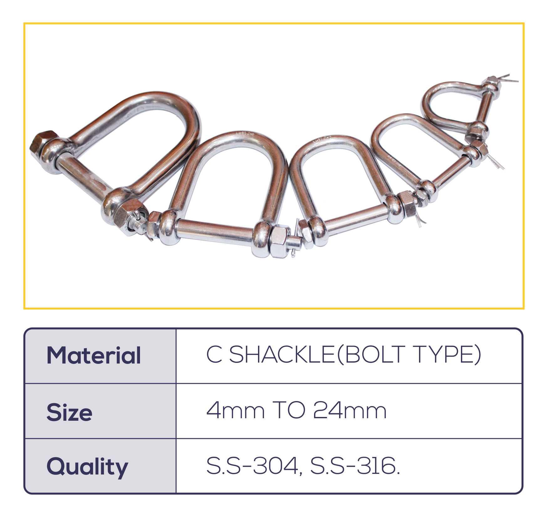 C-Shackle(Bolt Type)