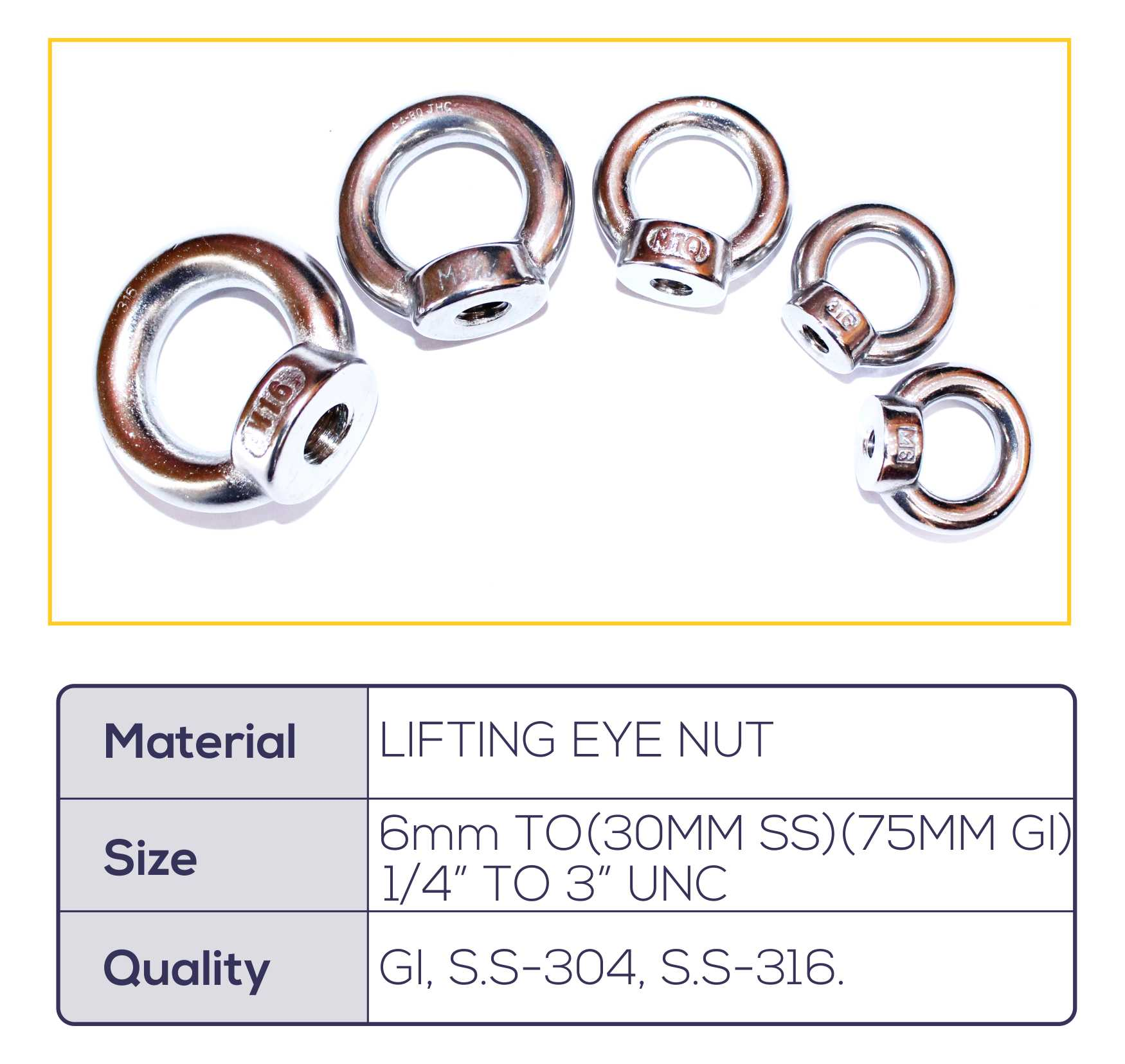 LIFTING EYE NUT