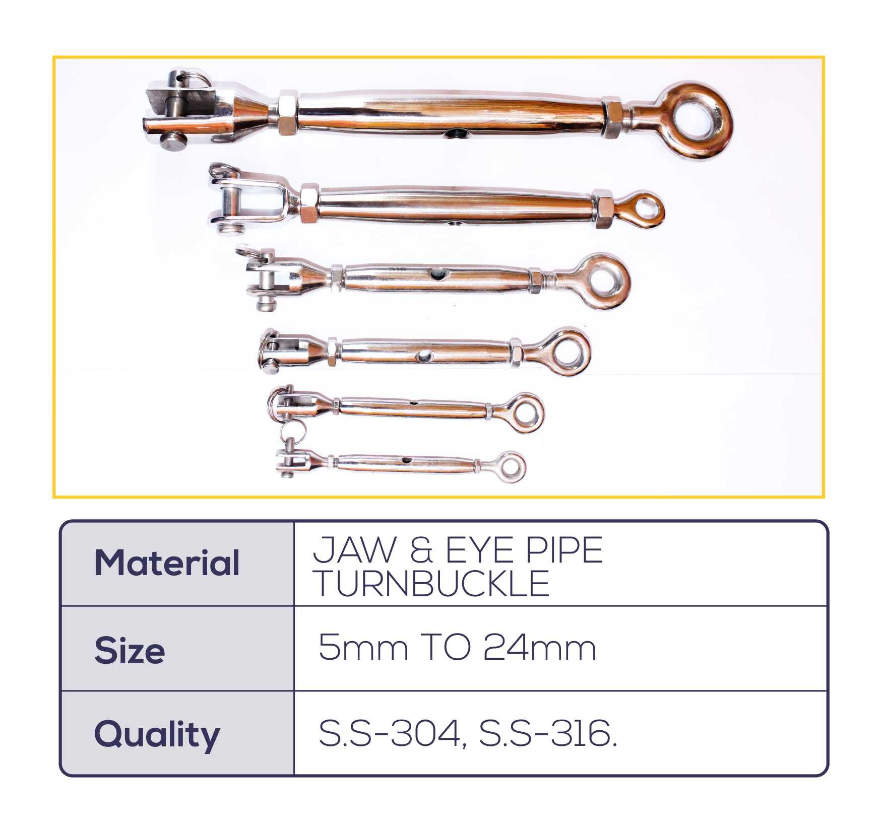 JAW & EYE PIPE TURNBUCKLE