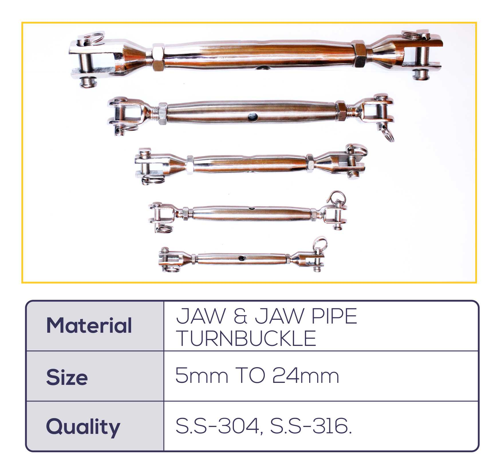 JAW & JAW PIPE TURNBUCKLE