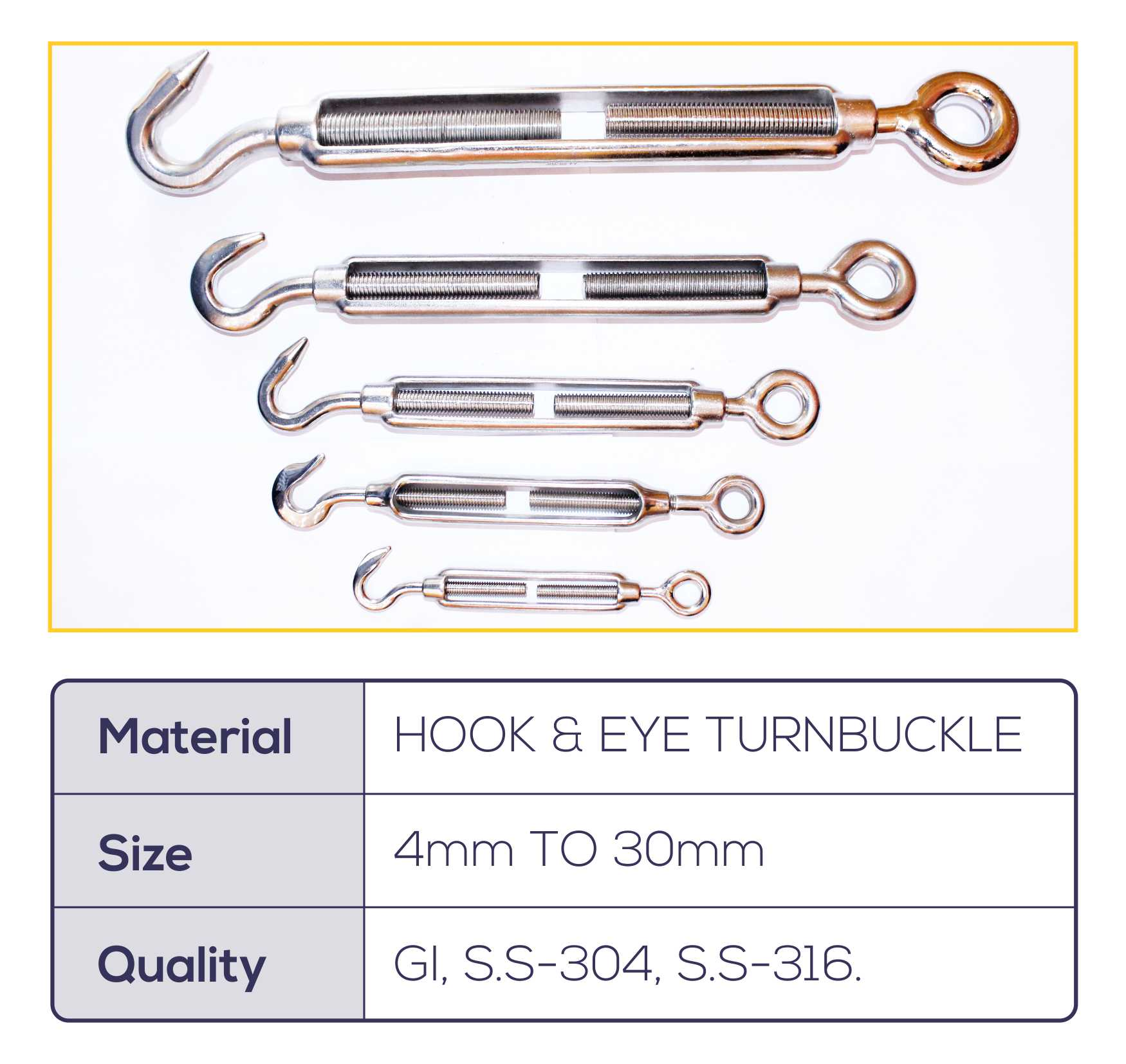 HOOK AND EYE TURNBUCKLE